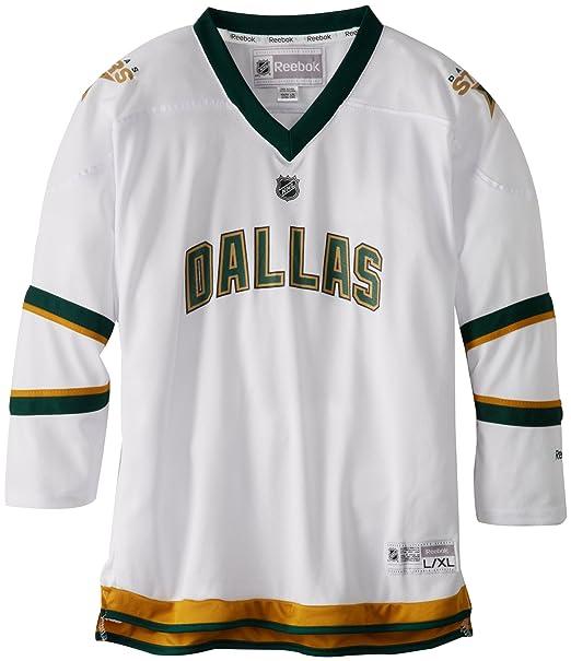 competitive price b59ce 9c95a Amazon.com : NHL Dallas Stars 8-20 Youth White Replica ...