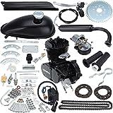 """Iglobalbuy 26"""" & 28"""" Bicycle 48CC 49CC 50CC 2-Stroke Motor Engine Kit for Motorized Bicycle Black"""
