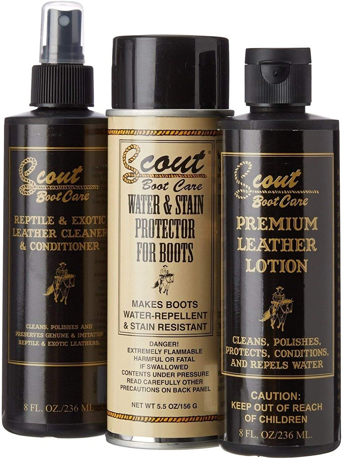 Amazon Com Scout Boot Care Cleaning Kit For Exotic Boots Shoes