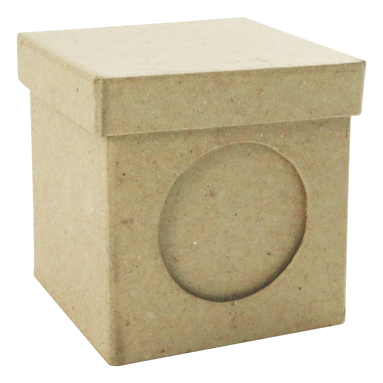décopatch Mache Square Individual Box, 4.5 x 4.5 x 3 cm, Brown Decopatch BT501O