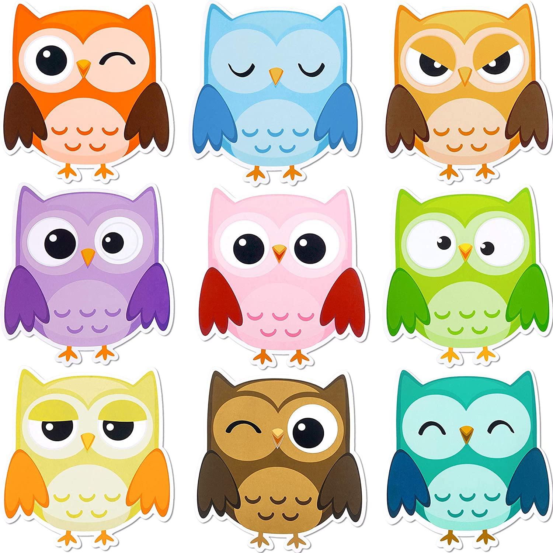 - Amazon.com : 45 Pieces Colorful Owls Cut-Outs Mini Owl Accents Mix