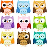 45 Pieces Colorful Owls Cut-Outs Mini Owl Accents Mix Owl Cutouts for Party School Classroom Bulletin Board Craft Home Wall Decoration