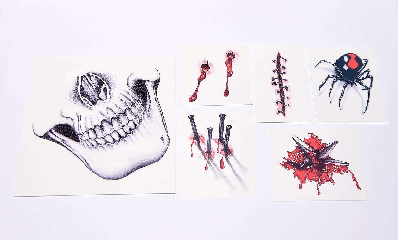 Adhesivo Crew® Halloween Tattoo Premium Set Tatuajes ...