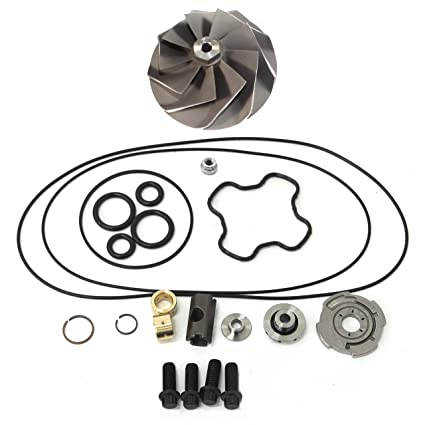 Amazon.com: Powerstroke 7.3L GTP38 Turbo Compressor Wheel + Upgrade Rebuild Kit-Stepped Gap Piston Ring 360° Thrust Bearing: Automotive