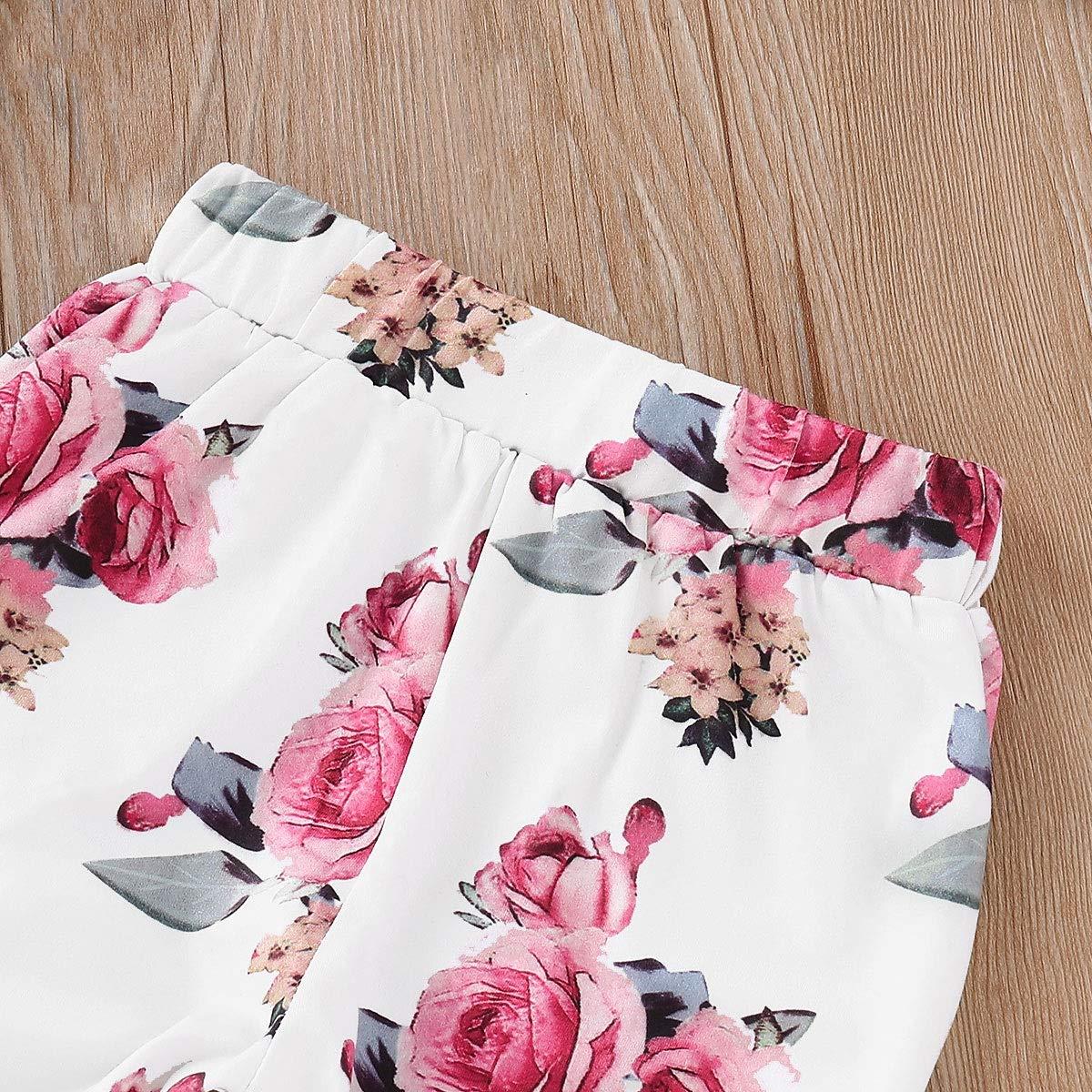 Chennie 1-5T Ragazza Tuta Fiore Stampa Pullover Hoodir Pantaloni Legging Set di Abbigliamento Invernale