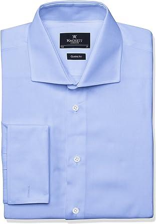 Hackett Pinpoint DC Camisa, Azul (Sky 513), X-Large (Talla del Fabricante: 165) para Hombre: Amazon.es: Ropa y accesorios
