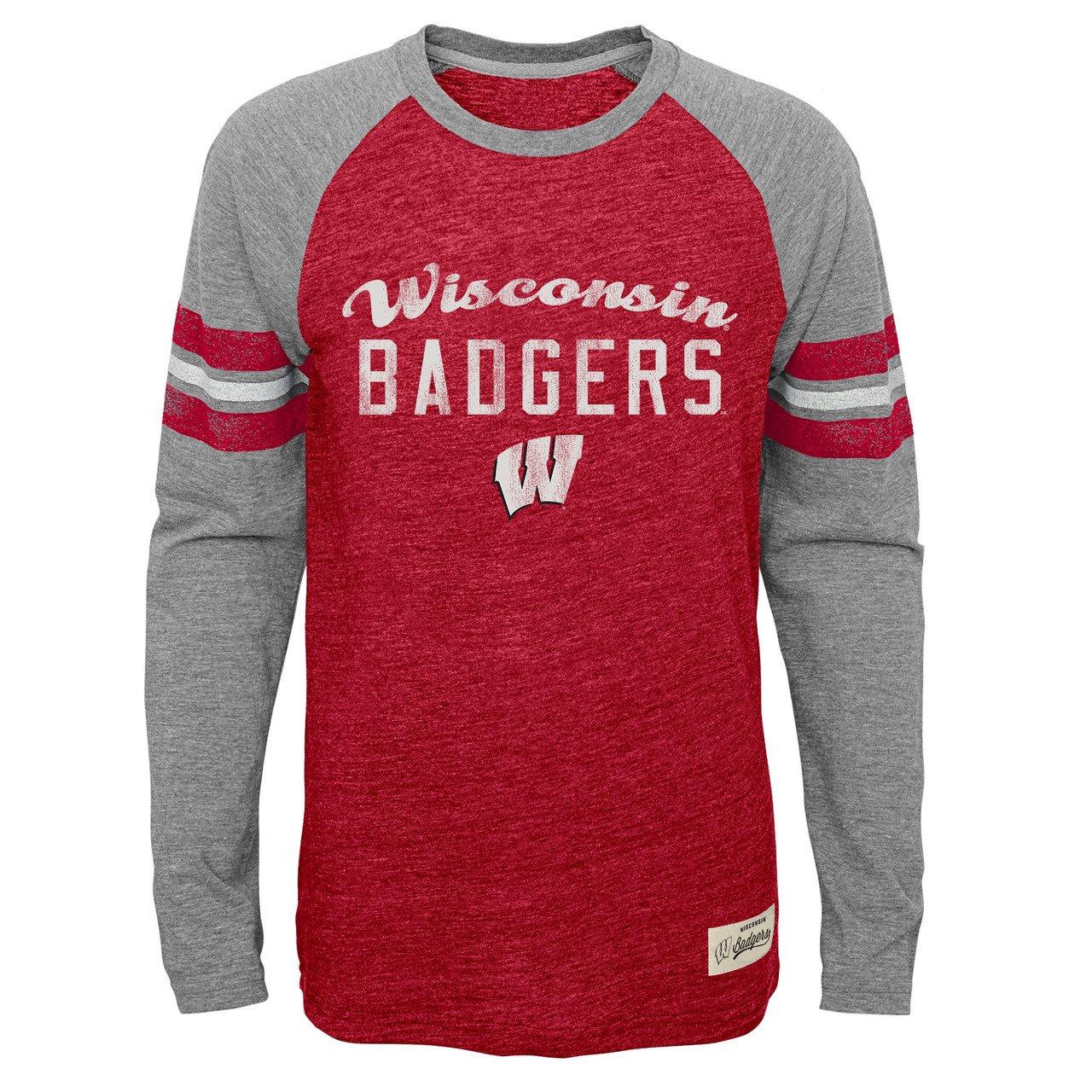 【爆買い!】 Wisconsin Badgers XL Youth NCAAフットボールPrideロングスリーブTシャツ – – レッド、 レッド、 XL B0764JMK3Q, Treasure-Store:67ba46ea --- narvafouette.eu