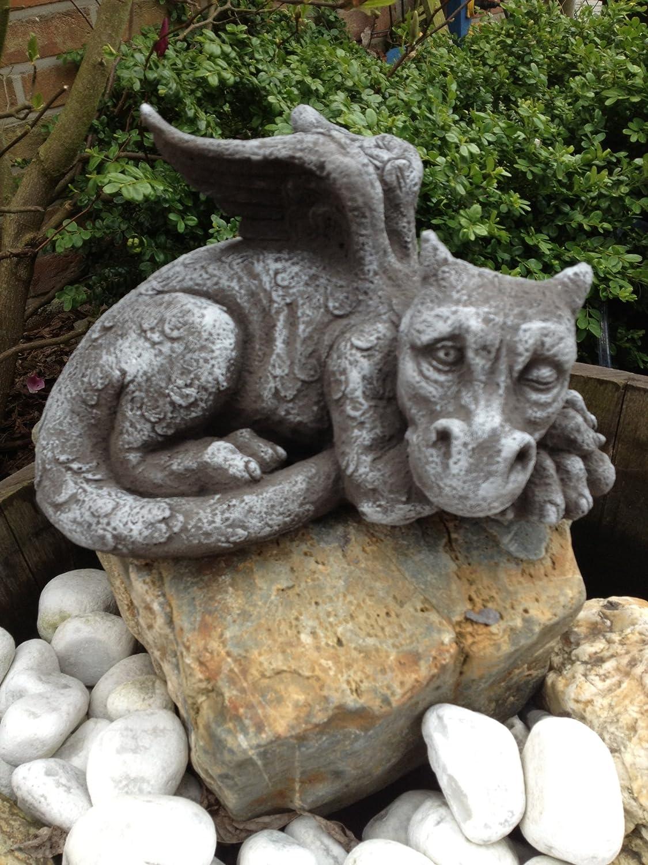 Steinfiguren Garten für garten und haus deko drachen figur steinguss fantasiefiguren