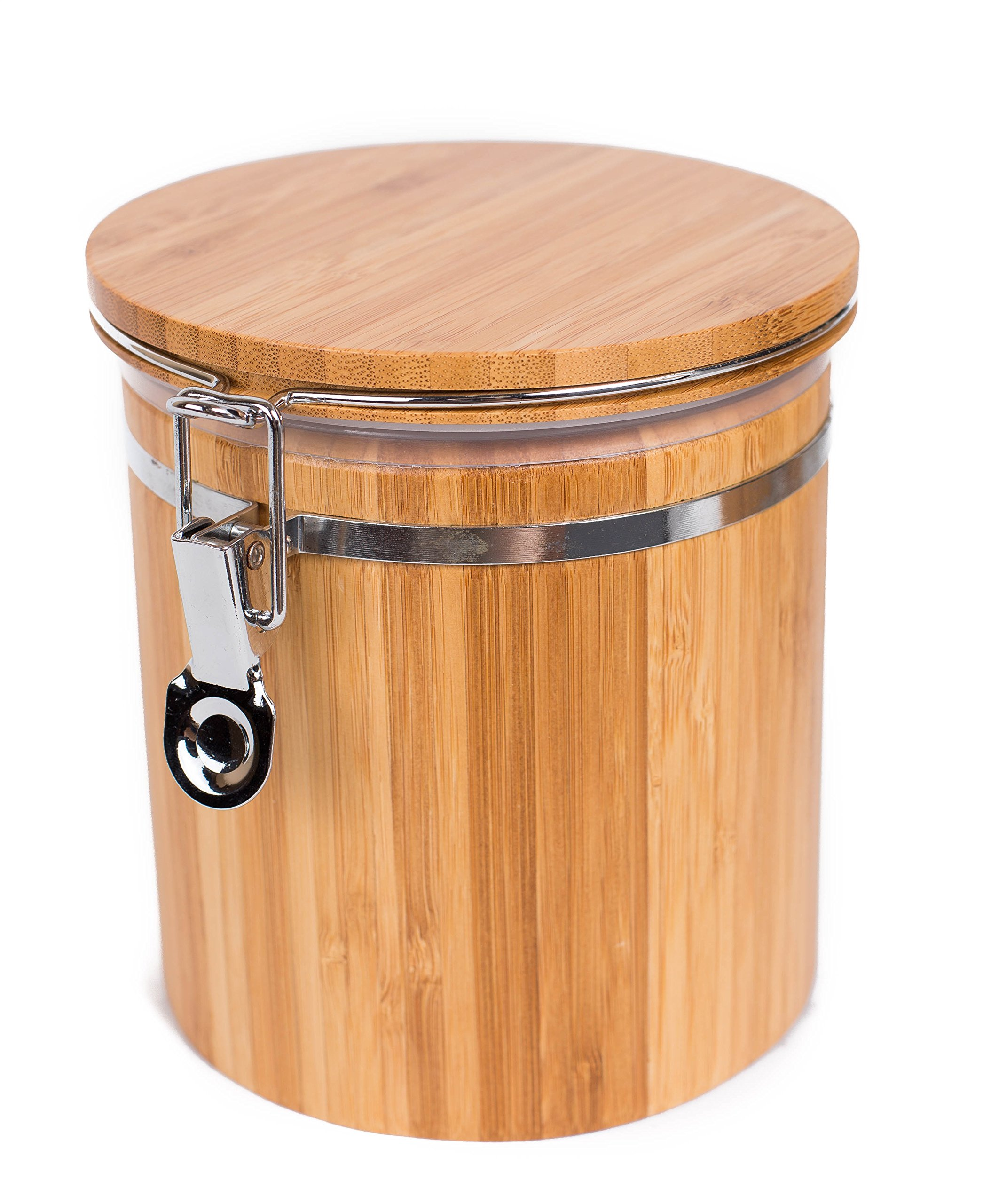 BirdRock Home Bamboo Food Storage Canister with Lid   Medium