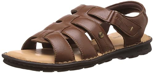 5f72abcd51 Hush Puppies Men s Rebound Tan Leather Flip Flops Thong Sandals - 7 UK India  (