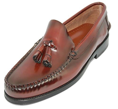 Zapato Mocasín Tipo Castellano con Borlas JOHN COLEMAN Color Marrón: Amazon.es: Zapatos y complementos