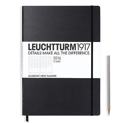 Leuchtturm1917 akademis - Agenda semanal, 18 meses Grande ...
