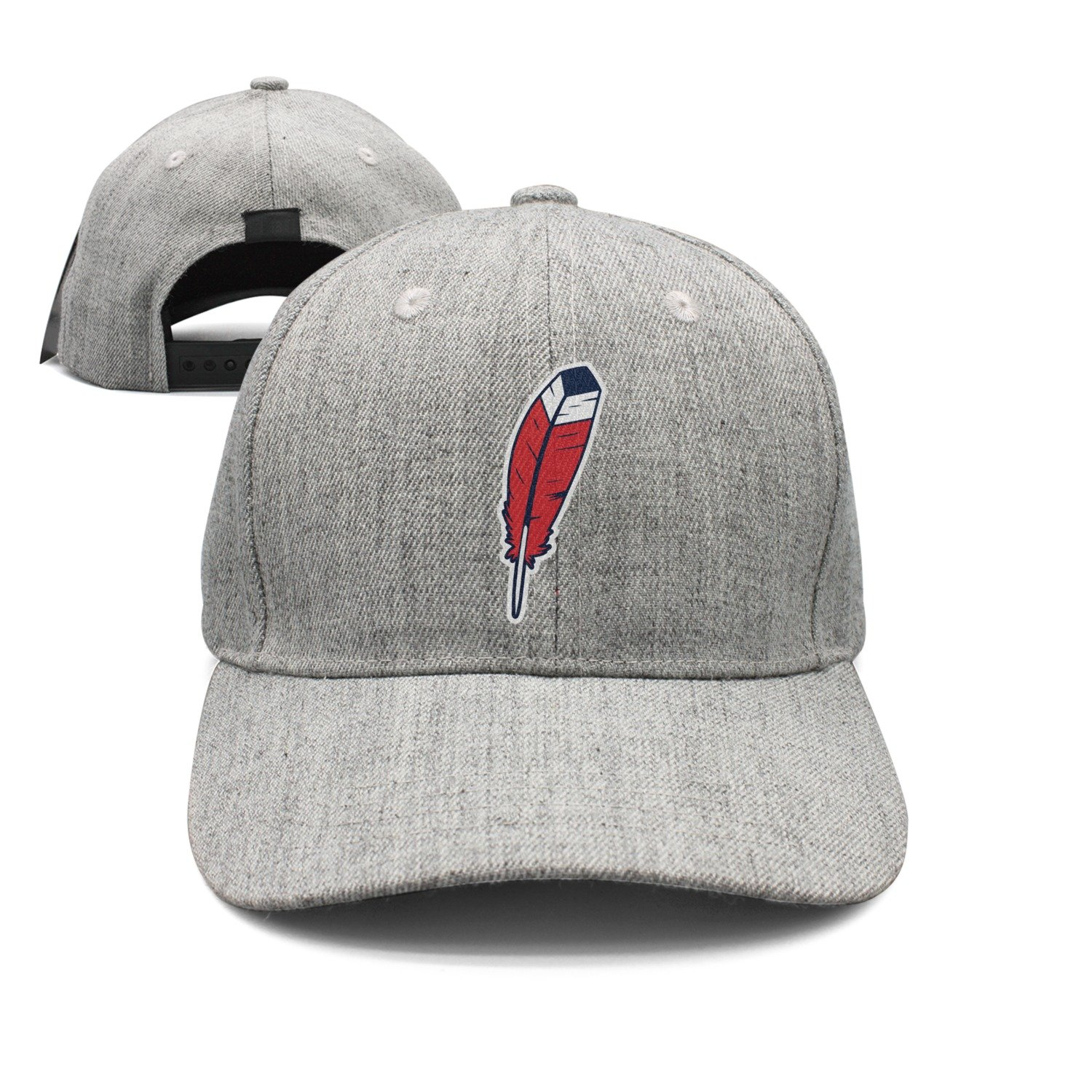 Cleveland Love Basketball Feather Indian Unisex Top Level Low Profile Athletic Baseball Fitted Caps Hat Men's Women's Wool Material Classic Grey