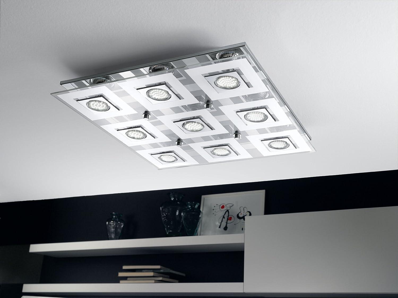 Eglo cabo interno gu w cromo trasparente bianco illuminazione