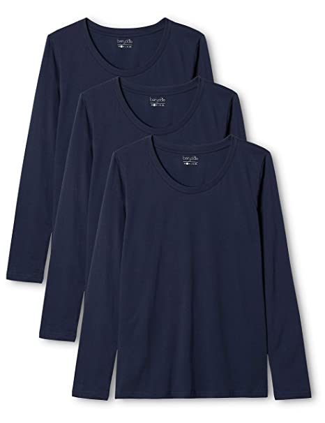 en varios colores lote de 3 con cuello de pico Berydale Camiseta de manga larga de mujer