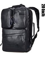 WITZMAN Men Retro Canvas Backpack Travel Rucksack Casual Duffel Bag