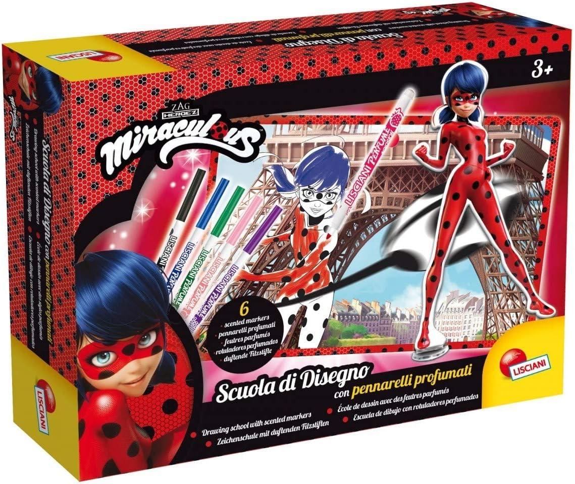 Lisciani Giochi 66094.0 – Ladybug Miraculous Escuela de Dibujo con ...