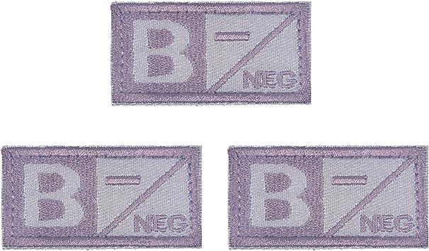 Rancco® Tipo de sangre Tactical parche tipo B-(Type B Negative) bordado parches de velcro Tratamiento médico Militar insignias para Gorra Para Hombre (3 pcs): Amazon.es: Deportes y aire libre