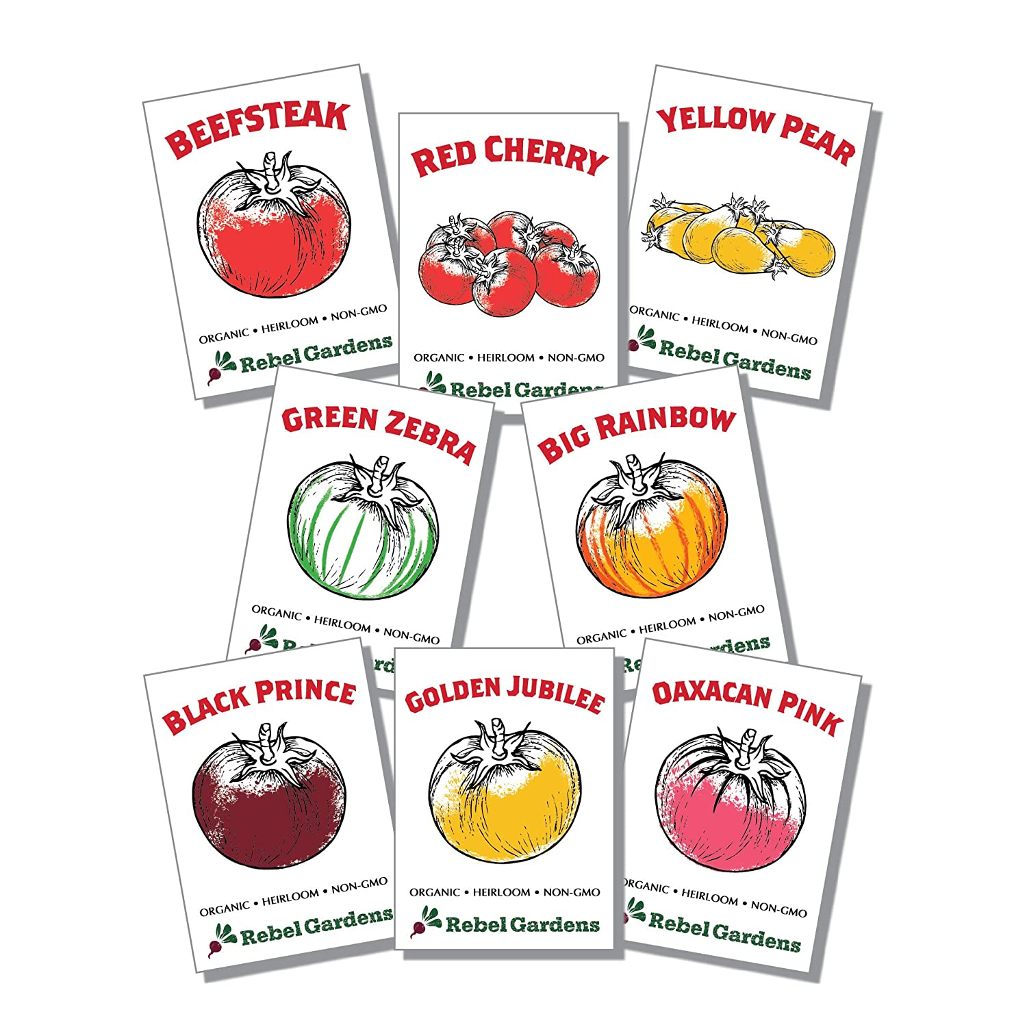 Heirloom Tomato Seeds Organic - 8 Varieties of Non Gmo Seed for Planting