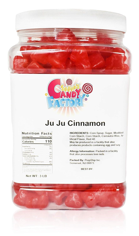 Sarah's Candy Factory Ju Ju Cinnamon Bears in Jar, 3 Lbs
