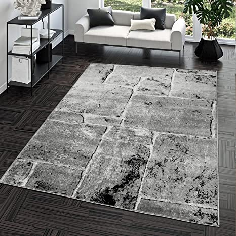 bca97b08909434 Tapis Sol en Pierre Marbre Aspect Moderne Tapis pour Salon Gris Super Prix,  Dimension:60x100 cm