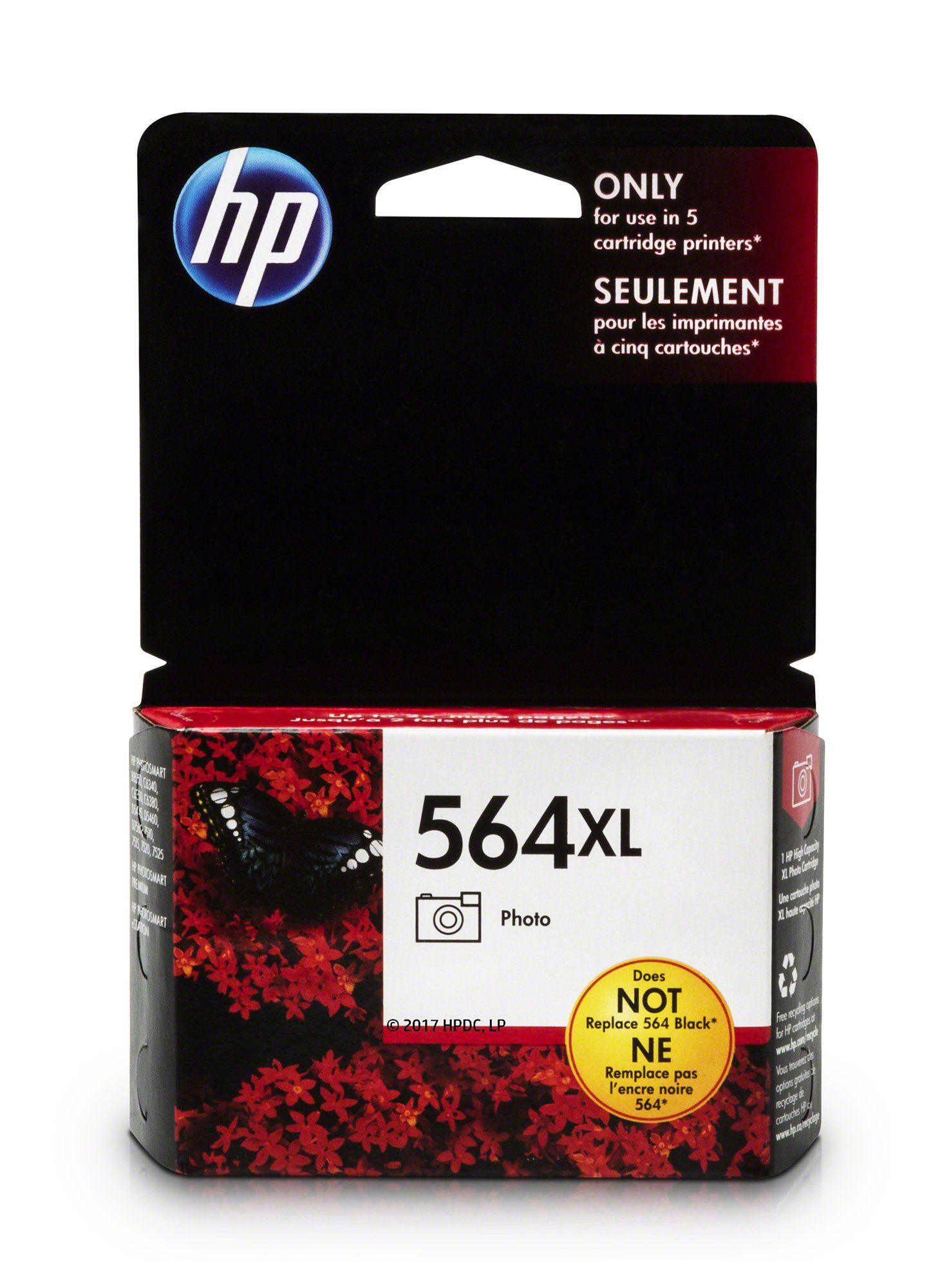 HP 564XL Photo Ink Cartridge (CB322WN) for HP Photosmart B8550 D5445 D5460 D7560 7510 7515 7520 7525 C6340 C6350 C6380 C510a C309g C310a HP Photosmart Premium Fax e-All-in-One Printer C410a HP Photosmart Premium TouchSmart Web All-in-One Printer C309n