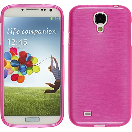 PhoneNatic – Carcasa de Silicona para Samsung Galaxy S4 Rosa Brushed Case Galaxy S4 Funda Case
