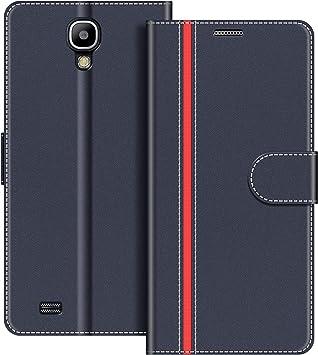 COODIO Funda Samsung Galaxy S4 con Tapa, Funda Movil Samsung S4, Funda Libro Galaxy S4 Carcasa Magnético Funda para Samsung Galaxy S4, Azul Oscuro/Rojo: Amazon.es: Electrónica