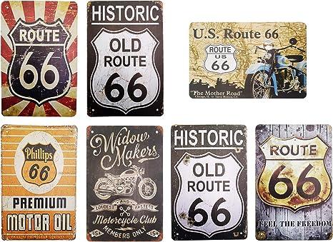 Metal Tin Sign i love route 66 Bar Pub Vintage Retro Poster Cafe ART