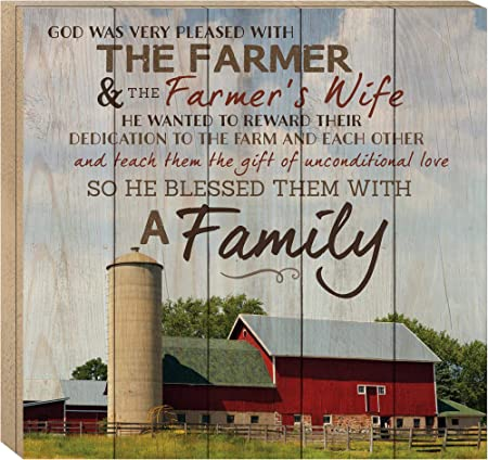 So God Made a Farmer Metal Sign Vintage Style Embossed Sign