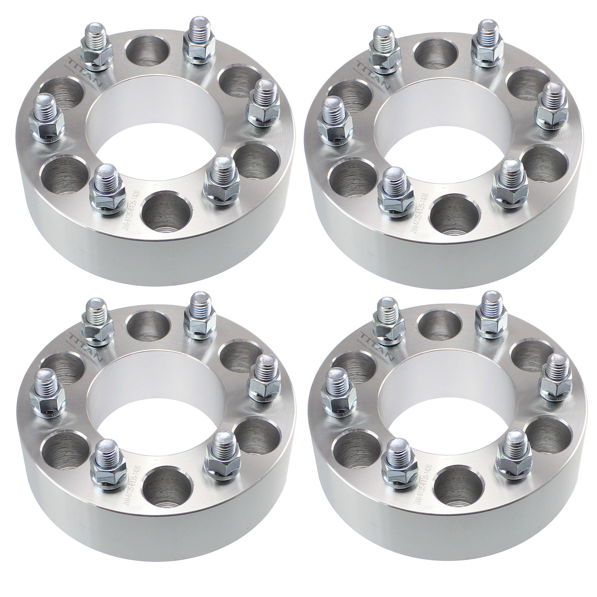 4pcs 2'' 6x135 to 6x135 Wheel Spacers | 14x2 Coarse Studs | Fits Ford Expedition F150 Lincoln Navigator Mark LT Adapters