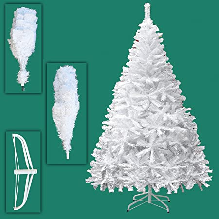 quality design 904bb 803be Premium 5ft,6ft,7ft White Artificial Christmas Tree Pine Metal Stand Tips  Spruce - 7FT (1000 Tips)
