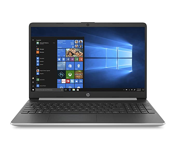 "HP 15s-fq1022ns -Ordenador Portátil 15.6"" HD (InteL Core i7-1065G7, 8GB RAM, 265GB SSD, Intel Iris Plus Graphics, Windows 10), Color Plata - Teclado QWERTY Español"