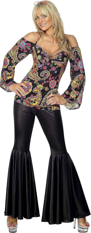 Smiffys 30443M - Disfraz Hippie para mujeres, talla 40 - 42 ...