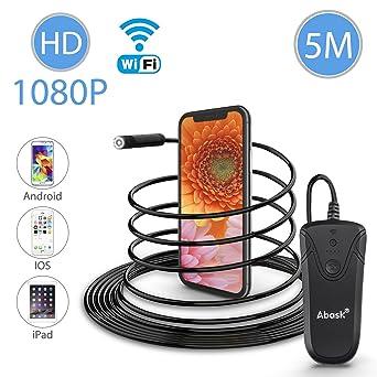 Telecamera Da 5,5 Mm Con Telecamera Di Ispezione Senza Fili Con Boroscopio Wifi Da 5.0 MP Con 6 LED Per Iphone Tablet Android,2M Samsung Ispezione Dellendoscopio