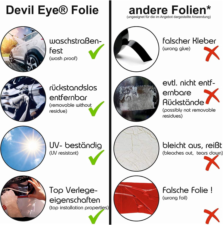 Finest-Folia Devil Eye/® Scheinwerfer Folie Stripe KX004