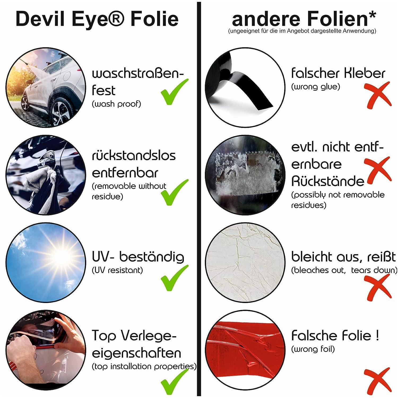 Devil Eye Style protector de pantalla de Finest Folia Tiras decorativas