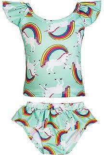 c4be9dbf87065 KABETY Girls Rainbow Unicorn Swimsuit Two Pieces Swimwear Bathing Suit  Bikinis