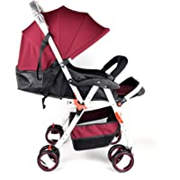 Baby Plus Baby Stroller, Red, BP8482-WINE RED