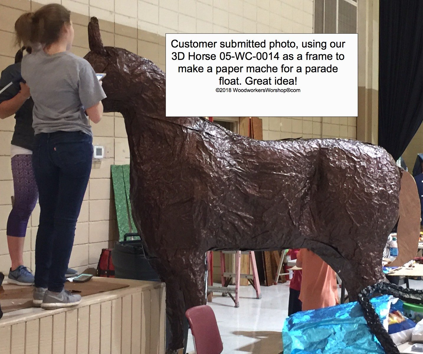A Woodworking Plan to Build a 3-d Life Size Horse (No Wood Included) by WoodworkersWorkshop