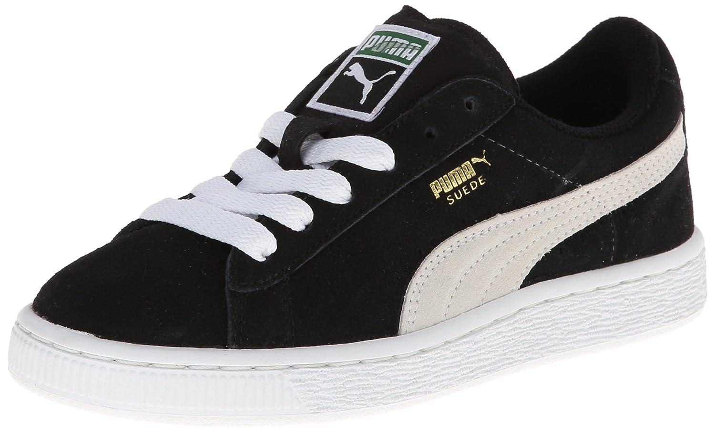 PUMA Suede JR Classic Kids Sneaker (Little Kid/Big Kid) B008VULID4 7 M US Big Kid|Black/White