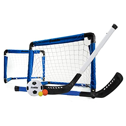 Amazon Com Franklin Sports Indoor Goal Set Includes 2 Adjustable