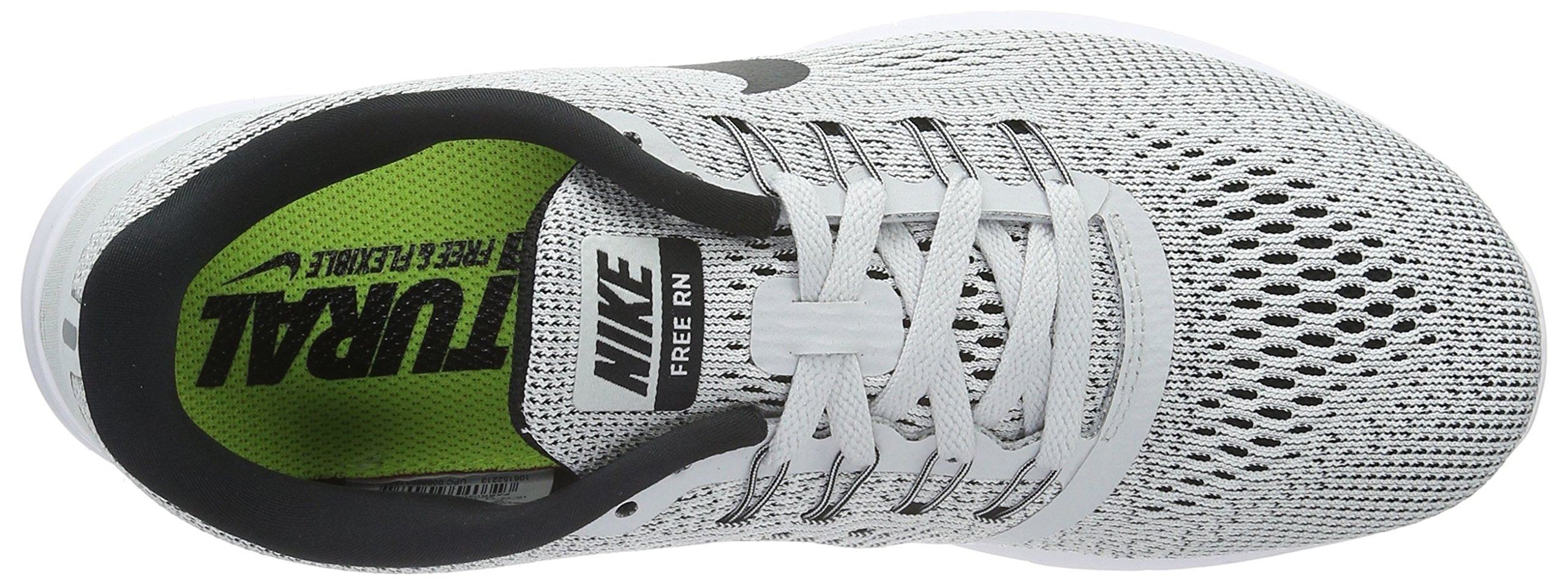 Nike Womens Free RN Running Shoe White/Black/Pure Platinum 6 by Nike (Image #8)