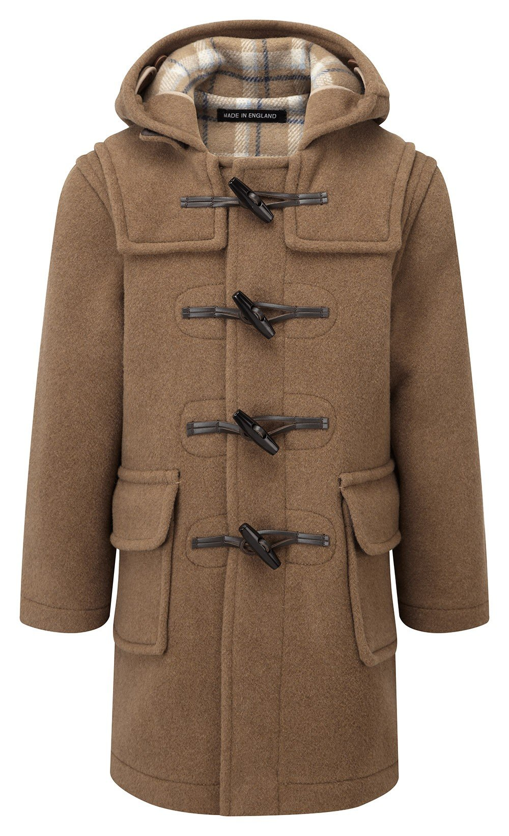 Kids Classic Duffle Coat (Toggle Coat) in Camel (7-9Y)