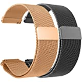 2pcs for Garmin Vivomove HR Bands Straps Replacement Milanese Loop Metal Watch Strap 20mm Accessory Wrist Band Colorful Sports Comfortable Flexible Bracelet for Garmin Vivomove HR/Garmin Vivomove, 2B