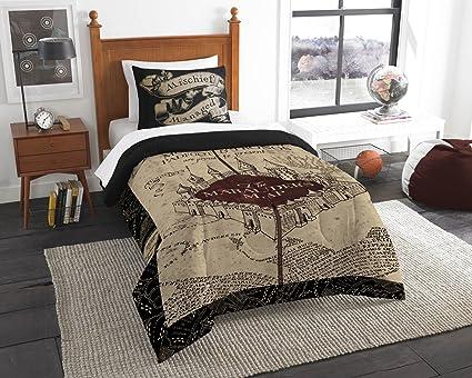 Amazon Com Harry Potter The Marauder S Map Twin Comforter Set Twin