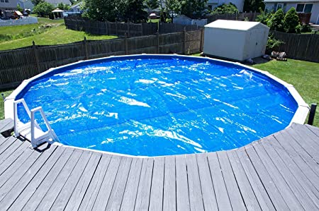 front facing sun2solar blue 16-foot round solar pool cover