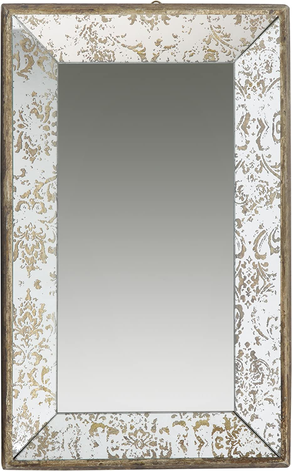 A&B Home, 20 by 12-Inch Antique Style Frameless Wall Mirror Tray