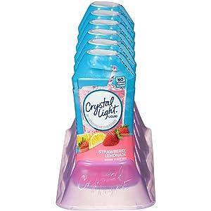 Crystal Light Strawberry Lemonade Liquid Drink Mix Bottle, Makes 24 Servings, 1.62 Fl Oz, Pack of 12