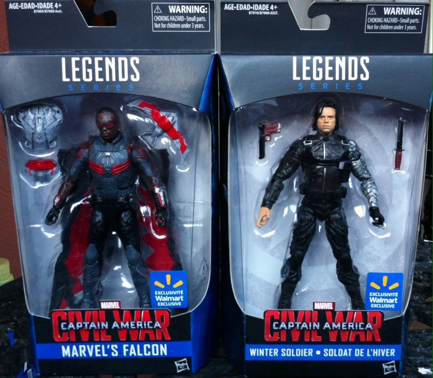 Amazon.com: Marvel Legends Walmart Exclusive Falcon & Winter Soldier ...